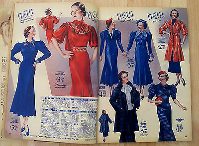 "antique 1936-37 ""CHICAGO MAIL ORDER"" Winter CATALOG ART DECO Era vtg CLOTHES"