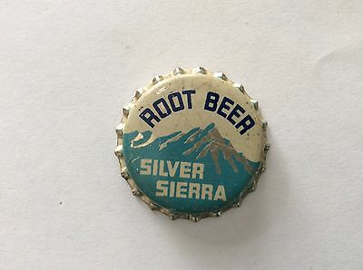 Silver Sierra Root Beer   Soda   Bottle Cap -     Unused   -  Cork Lined