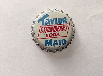 Taylor Maid Strawberry   Soda   Bottle Cap -     Unused   -  Cork Lined