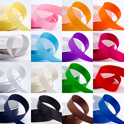 25Yards Satin Ribbon Wedding Party Decoration Craft Sewing Many Colors Pick S