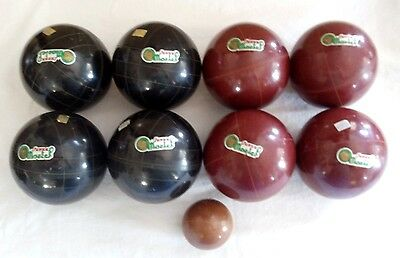 """Vintage Super Martel Made in Italy Etched 107 Bocce Balls 4 1/4""""  Lawn Game"""