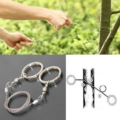 Outdoor Steel Wire Saw Hunting Camping EDC Emergency Survival Gear Tools