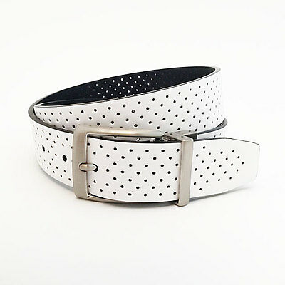 Nike Golf Men's Perforated Reversible Belt Size W38 (Fits 36) White/black 18186