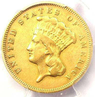 1878 Three Dollar Indian Gold Piece $3 - Certified PCGS VF Detail - Rare Coin!