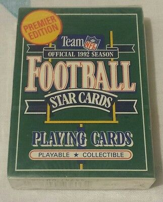 OFFICIAL NFL 1992 Collectible Premier Ed. Football Star Playing Cards NEW Sealed