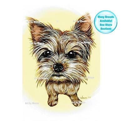 Yorkshire Terrier Art Print Yorkie Dog Picture