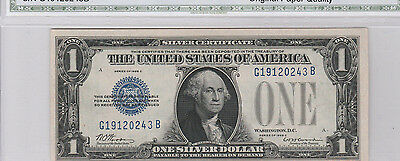 Superb Key 1928-C $1 Silver Certificate--Funnyback, Ships Insured, Choice AU