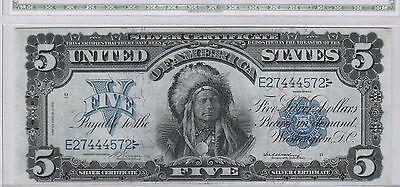 Gently Circulated 1899 $5 Silver Certificate--Fr. 274, Vernon/McClung, ungraded