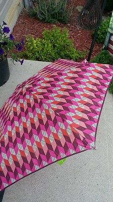 NWT Vera Bradley AUTOMATIC MINI Umbrella in BOHEMIAN CHEVRON