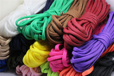 5/20/100Meter 4mm 7-Strand Lanyard Rope Nylon Parachute Cord Survival Outdoor S