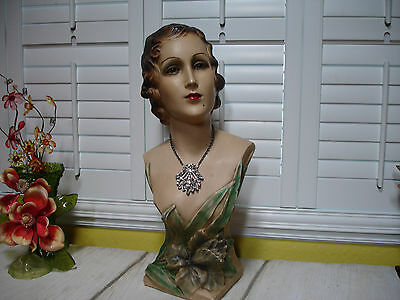 Art Deco or Art Nouveau Stunning Mannequin Lady Store Display 1920s Glass Eyes!