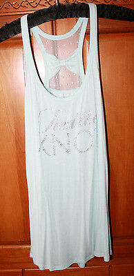 Women's VICTORIA'S SECRET I DO COLLECTION Tank Top Medium TIED THE KNOT Bling