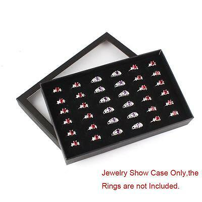 Fine 36 Slots Ring Storage Ear Display Box Jewelry Organizer Holder Show Case mz