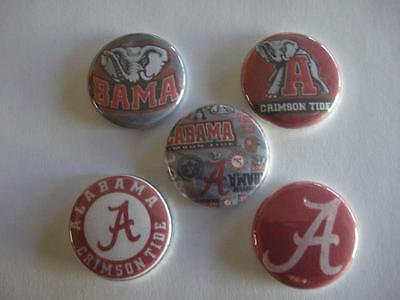 Alabama Crimson  buttons flat back or pin badge cabochons embellishments magnet