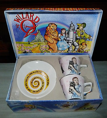 Wizard Of Oz Cardew Design Tea Party 2 Cups & Saucers Oval Espresso Coffee NIB