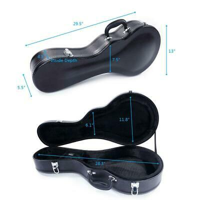 New Professional F-Style Microgroove Pattern Mandolin Leather Case