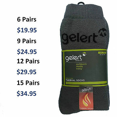 Gelert Mens Thermal Socks | Outdoor Camping Hiking Boot Size 7-11