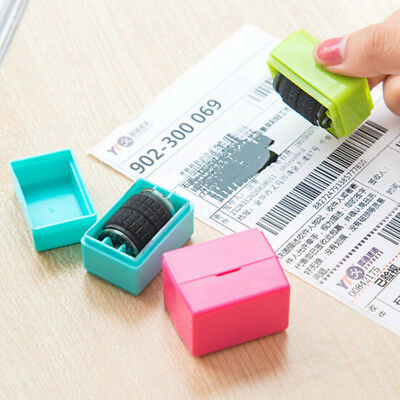 1Pcs Guard Your ID Roller Stamp Self Inking Messy Code Security Office