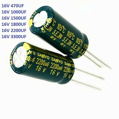 16V High Frequency LOW ESR Radial Electrolytic Capacitor 470/1000/2200/3300UF