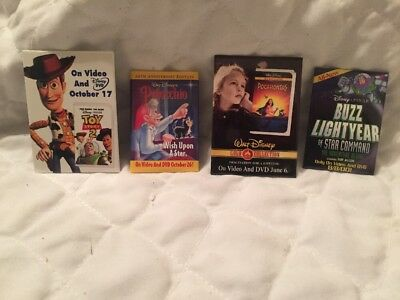 Rare Lot Of 4 Disney Movie Release Pins