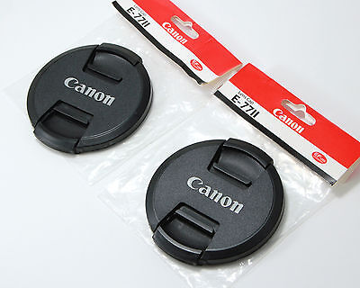 NEW Replacement 77mm Snap-On Front Lens Cap Cover E-77 II for Canon (QTY = 2)