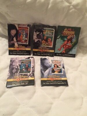 Lot Of 5 Disney movie Release Pins