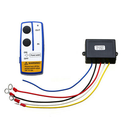 12V 50ft Winch Wireless Remote Control Switch Handset Kit Fit For JP ATV SUV UTV