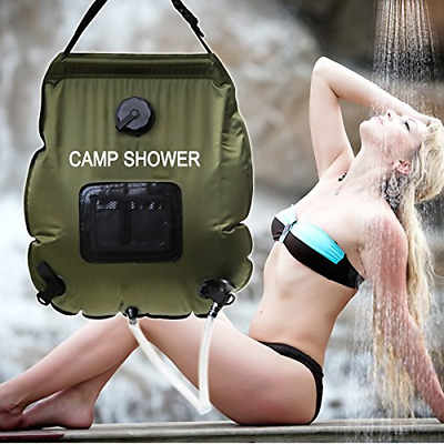 Wealers Premium Solar Camping Shower Bag, 5-gallon / Includes Removable Hose W/o