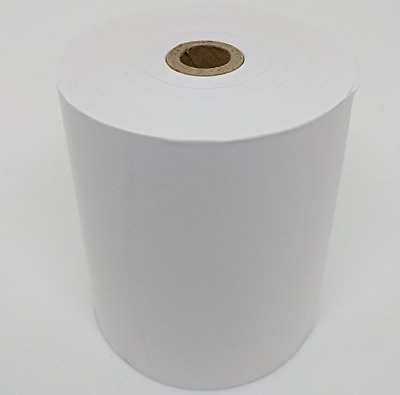 "3-1/8"" x 220' BPA Free Thermal Paper Receipt Rolls, White, Case of 50"