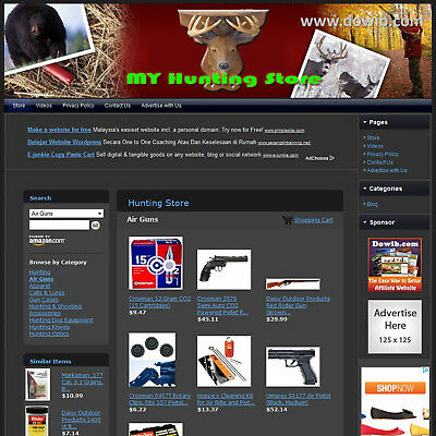 HUNTING STORE - Professionally Designed Online Affiliate Website + FREE Domain!