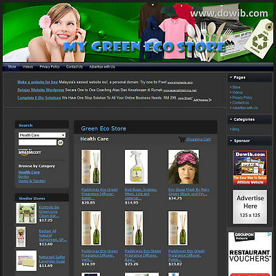 Established Green Eco Solar Affiliate Business Website For Sale, Free .com Name!