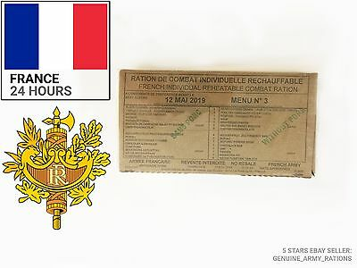 FRANCE Army Ration Box. Military Ration -24hours- meals ready to eat (MRE)