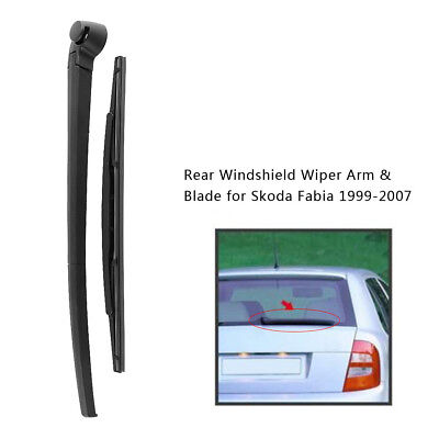 Auto Rear Windscreen Windshield Wiper Arm & Blade Kit For Skoda Fabia 1999-2007