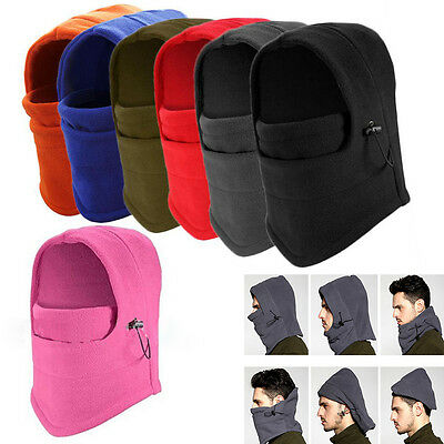 Thermal Fleece Balaclava Winter Ski Motorcycle Neck Face Mask Cover Hood Hat Cap