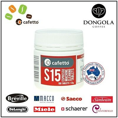 **SPECIAL** CAFETTO S15 100x ESPRESSO COFFEE MACHINE CLEANING TABLETS BACK FLUSH
