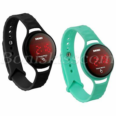 Men Women Student Sport Waterproof LED Touch Screen Silicone Digital Wrist Watch
