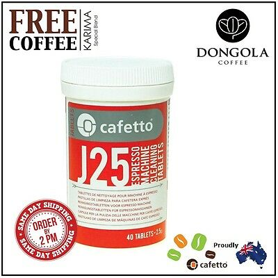 CAFETTO J25 Espresso Machine Cleaning Tablets Automatic Cleaner + KARIMA Coffee
