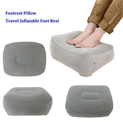 Soft Train Flight Travel Inflatable Foot Rest Portable Pad Footrest Pillow PQ
