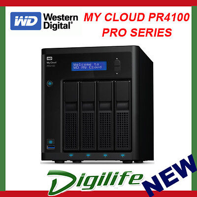 WD My Cloud PR4100 Pro Series 40TB (4x 10TB) 4-Bay NAS Storage Server