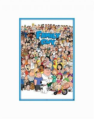 Family Guy Full Cast Poster - New - 24 X 36 - Fox Tv Animation Cartoon Art Print