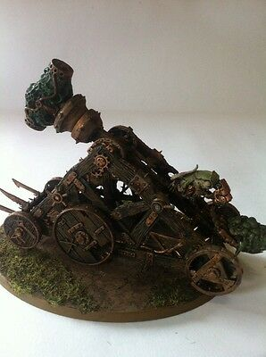 Warhammer Fantasy Age Of Sigmar Skaven Army Painted Plague Claw Catapult Chaos !