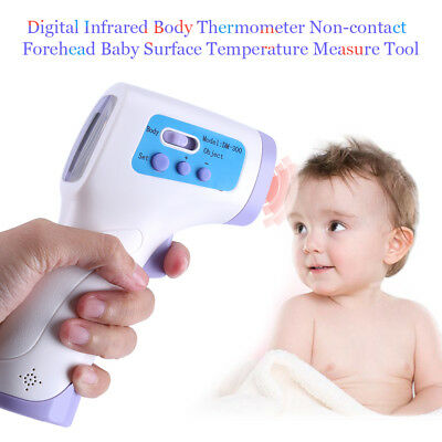 Baby Adult Digital Infrared Thermometer Non-Contact Body Forehead w/Memory Alarm