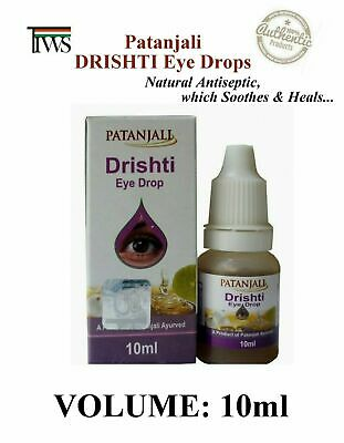 Patanjali Drishti Eye Drops Herbal Natural 10ml/0.3oz BUY 2 GET 4 @ $1.87 each