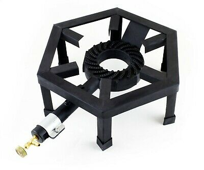 Single Gas Ring Large Cast Iron Boiling Burner LPG Cooker Stove Camping SGB-08