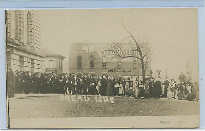 Rppc Peru Indiana Bread Line Social History Real Photo Post Card Of Significance