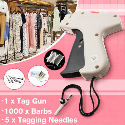 Garment Price Label Tag Tagging Gun Barbs needles swing Tags 1000 Barbs 5 Needle