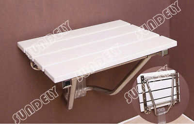New Folding Wall Mounted Shower Seat Wooden Chair Foldaway Disabled Mobility