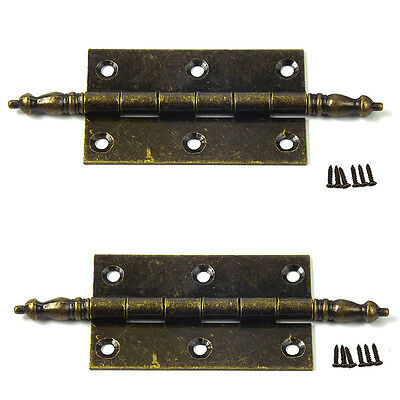 2 X Antique Brass door hinge wardrobe, kitchen Cabinet,bookcase Door Checks