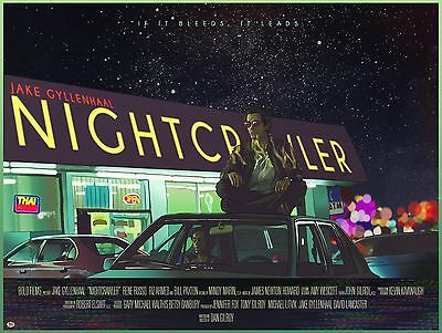 Nightcrawler (2014)-hot movie art silk poster 24x32 inch