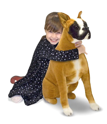 Stuffed Plush Toy Huggable Boxer for Dog Lovers of all Ages 8.5x16.5x31.2 inches